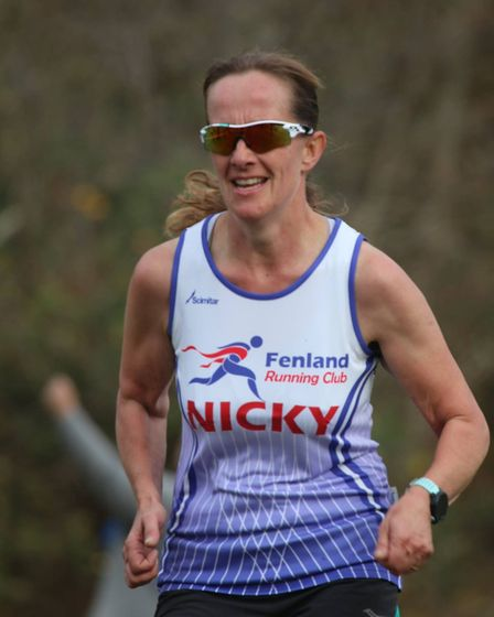 Nicky Jennings of the Fenland Running Club at the Frostbite Friendly League's 30th Anniversary Race.