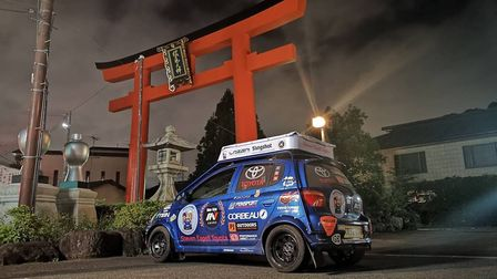 Dan and Dave have reached their final destination, Tokyo, the capital of Japan. Picture: CHATTERIS2T