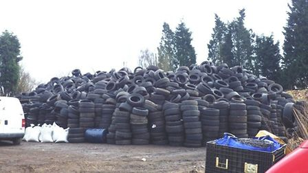 Suspended sentence for man who ran illegal tyre sites at Lazy Acre Farm, in Whittlesey. Picture: ENV