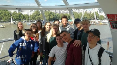 Thirteen students and two teachers from Gymnasium Remchingen school in Germany visited King's. Pictu