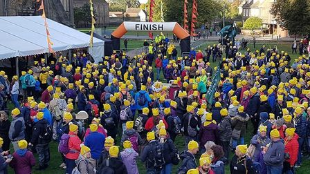 Pudsey ramblers take to the streets of Ely to raise funds for Children in Need. Picture: CATHY GIBB-