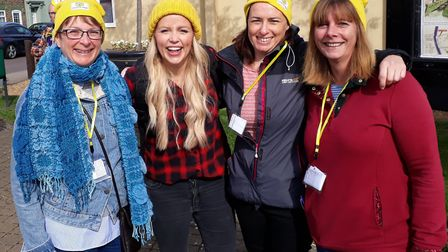 Members of Ely Walking Netball Club also took part in the ramble. From left to right: Sue Tune, BBC