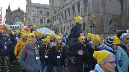 Pudsey ramblers take to the streets of Ely to raise funds for Children in Need. Picture: MIKE ROUSE