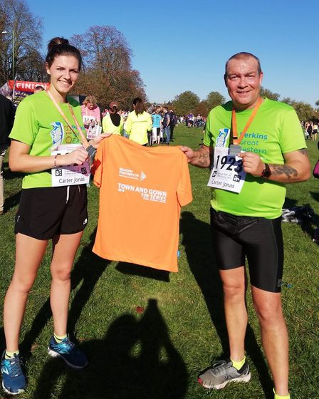 Three Counties Running Club in the Cambridge 10K Town and Gown race.