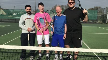 Chatteris Tennis Club men's number two team (L to R) Charlie Gienke, Cameron Smart, Alan Patey and J