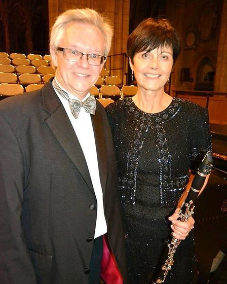Andrew Parnell conducted and Koren Wilmer played the clarinet. Picture: MIKE ROUSE.