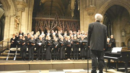 Ely Choral Society deliver splendid concert at Ely Cathedral. Picture: MIKE ROUSE.