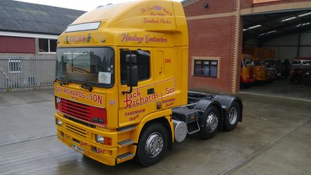1973 ERF A series flatbed diesel tractor which sold for £23,100. Picture: CHEFFINS
