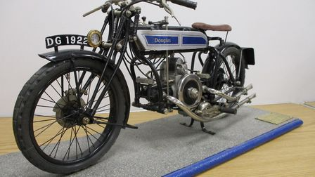 A 1922 Douglas Sports motorcycle sold for £5,940. Picture: CHEFFINS
