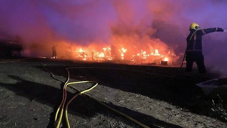 Cambs firefighters were called to a fire at Northey Road, Flag Fen that involved a number of agricul