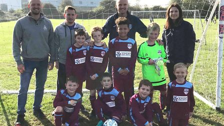 New kits for Ely Crusaders Under 8s thanks to recruitment experts. Paul Smith, managing director of