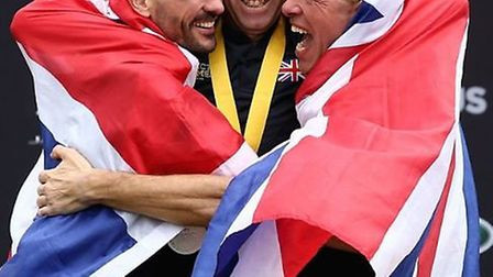 Wayne Harrod (far right), of Soham, won a bronze medal for #TeamUK in the Invictus Games men's road
