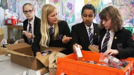 Robot-loving students from Witchford are set to take part in two major competitions. Picture: WVC