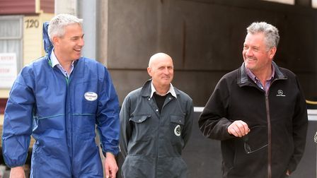 Steve Barclay MP joined up with the local NFU to visit an award-winning pig farm. Picture: FACEBOOK