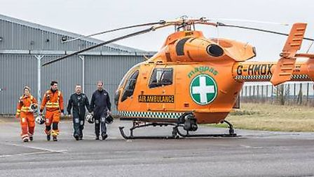 Robert and Sue Wiltshire are hosting a charity bingo night in aid of the Magpas Air Ambulance next m