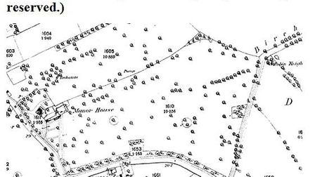 Ancient map of the area dating back from 1888 showing the Wenny Meadow area.