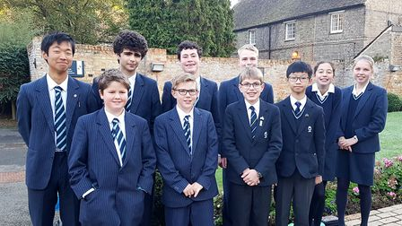 King's Ely students representing UK in international maths competition. Picture: KING'S ELY
