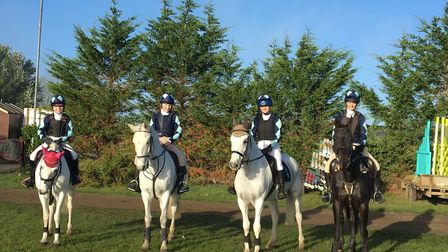King's Ely equestrian team made school history at the national equestrian championship. Picture: KIN