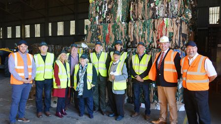 Councillors visit award-winning recycling facility in Ely. Picture: ECDC