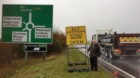 Bold yellow signs alerting drivers to the bypass have been installed thanks to campaigning from coun