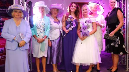 The glitzy occasion saw heels and glamorous dresses showcased on stage at the Whittlesey Christian C