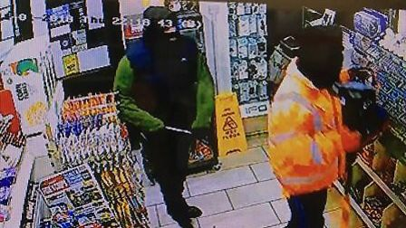 Cambs Police released CCTV of the moment two men carried out an armed robbery in Longstanton last we