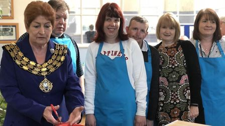 Cambridgeshire County Councillor Jan French, who is also the Mayor of March, officially opened Hot P