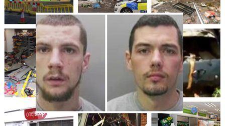 Tony Smith (left) from Willingham, and Charlie Oakley from Shefford, have been sentenced after being