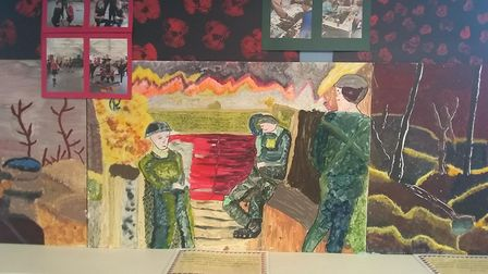Local primary school students recreated work by war artist Paul Nash. Picture: CONTRIBUTED