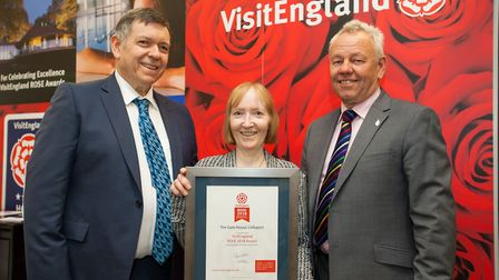 Peter and Edna Slee-Smith of the Gatehouse in Littleport receive a ROSE award. Picture: VISIT ENGLAN
