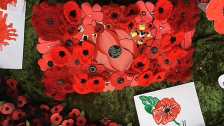 The beautiful display at Adams Hertiage Centre in Littleport to mark the end of the First World War