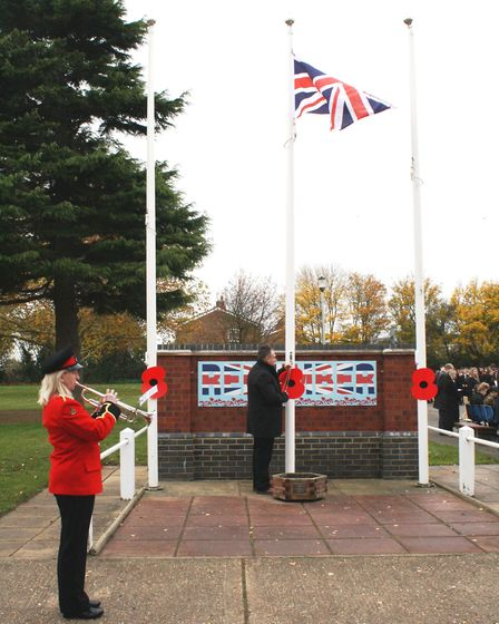 Witchford Village College students stand silent for poignant Remembrance service. Picture: JO GORDON