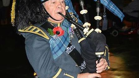 At 6am today a lone piper heralded in the beginning of a day of commemoration at Ely Cathedrak fior
