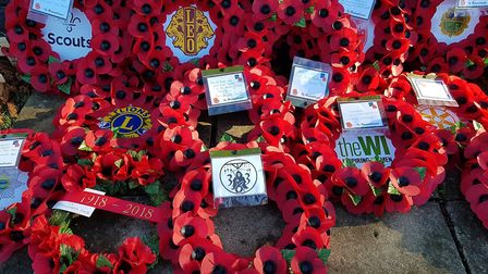 Littleport remembers. The service at St George's Littleport included a parade and the laying of wrea