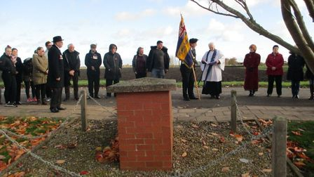 A simple but moving ceremony was held at Turves on Remembrance Sunday to commemorate the fallen from
