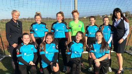 Stomping first game for March Park Rangers girls. Picture: JOANNE KENT
