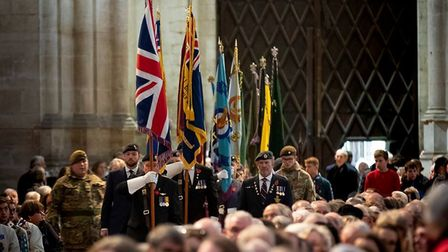 Ely remembers - with a servce of Remembrance in the cathedral. The service was impressively well att
