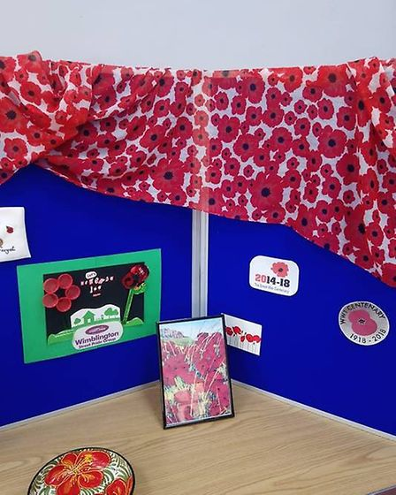 Wimblington Parish Council hosted the poppy gathering weekend which saw the handmade creations from
