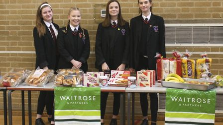 Students at Witchford Village College received a healthy breakfast courtesy of Ely Waitrose ahead of