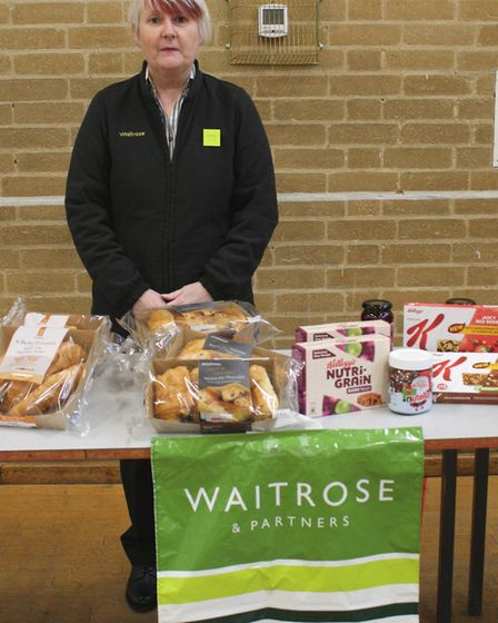 Debbie Walker, head of community liaison at Waitrose. Students at Witchford Village College received