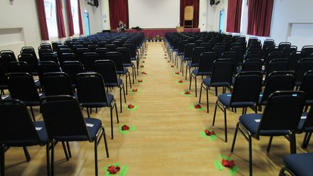 Remembrance service at Cromwell Community College in Chatteris