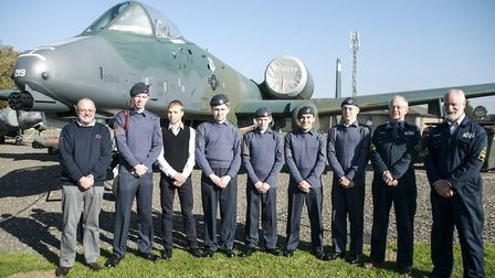 Ely cadets visit former US air force base at RAF Bentwaters. Picture: ELY CADETS