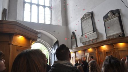 More than 400 people filled the church in Sutton for the service of commemoration. Picture: DAVE SMI