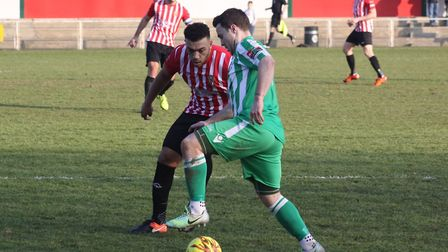 Sam Mulready scored in both Soham Town Rangers wins in recent days. Picture: ANDY BURFORD