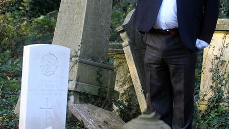 Unveiling of The Commonwealth War Graves at Wisbech General Cemetery. Pictures: IAN CARTER.