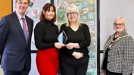 From left: Graham Wilson, chief executive of NABMA, Lisa Quin, Julia Davis and Cllr Geraldine Carter