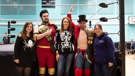Spooky characters fight it out in the ring as hundreds raise 2,237 for Spectrum charity. Picture: Ju