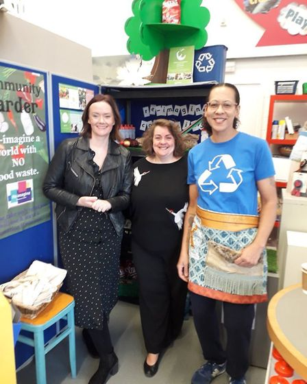 Ruth Marley, who runs the Re-Imagine Resource Centre at Witchford, officially opened the Community L