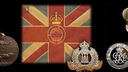 The recently conserved King's Colour of the First World War will be on display at Ely Museum from No