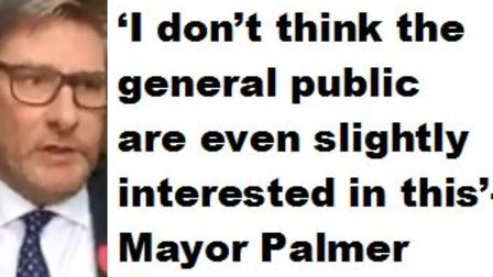 Mayor James Palmer has said he doesn't think the general public is at all interested in the reasons